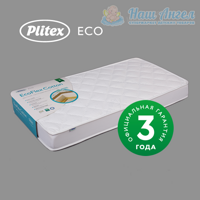 Матрас в кроватку PLITEX ECO FLEX COTTON (119х60х12см)
