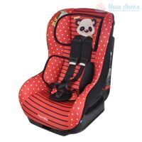 NANIA DRIVER Автокресло 0-18кг ANIMALS (PANDA RED красный)